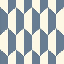 Blue and White Print Wallcovering by Cole & Son