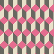 Pink and Black Print Wallcovering by Cole & Son